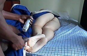 cumming on gf's sleeping soles