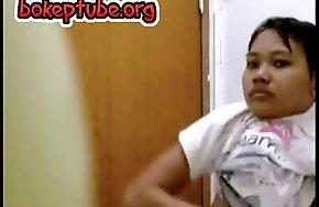 Cute Indonesian Legal age teenager Got Spy Cam