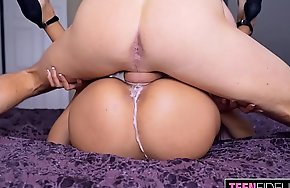 TEENFIDELITY Big Mamma Teen Autumn Falls Learns About Creampies