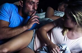 Virgin girl gets screwed right in front of her sleeping friend